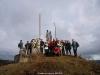 La Curuxa en el monumento al Minero