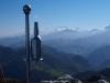 Desde la cumbre de Peña Mayor , los picos de Europa al fondo