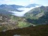 Desde el Cascayón, la niebla sobre los Arrudos