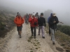 Inicio de la ruta en el Puerto Ventana bajo la niebla