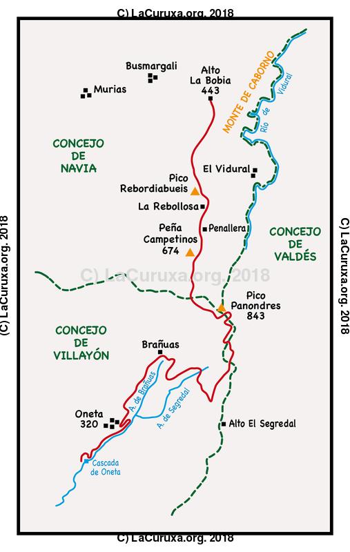 lacuruxa.org 2018 Mapa ruta 20180113